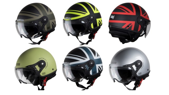 Bunker Rack SBH 10 helmets from Steelbird