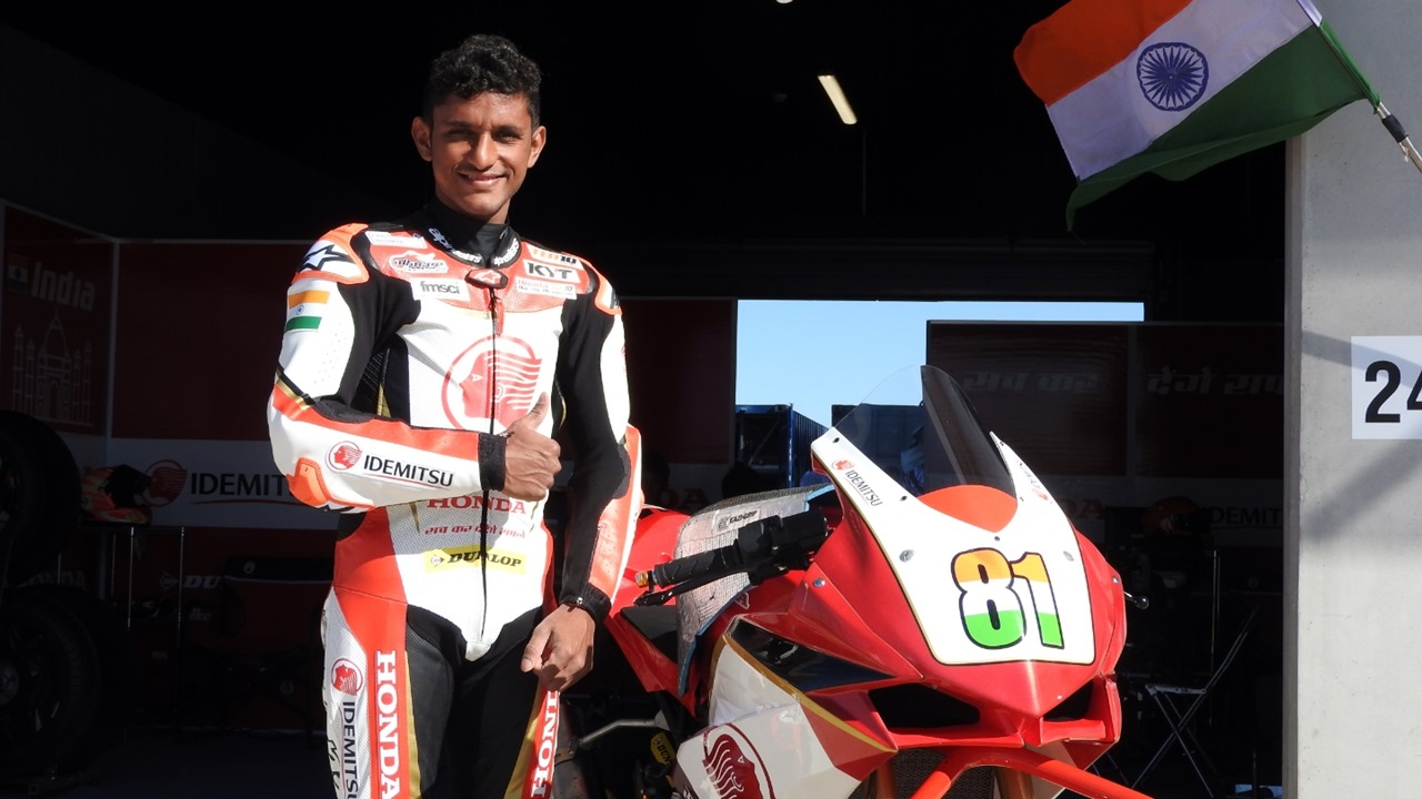 Anish Shetty scores points in Asia Road Racing Championship
