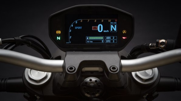 2018 Ducati Monster 821 meters screen