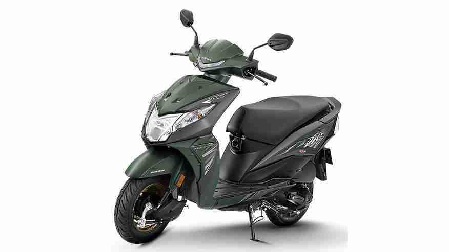 2018 Honda Dio colour option - green metallic