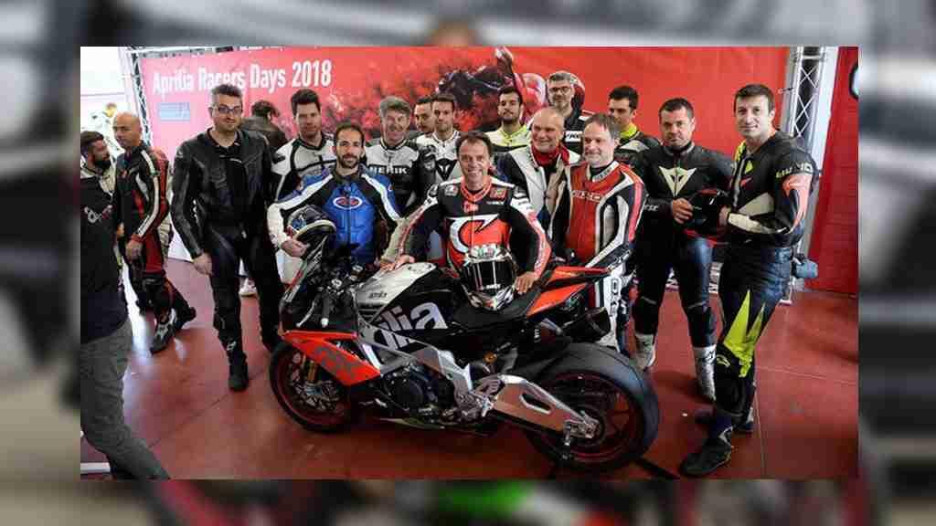 Loris Capirossi Aprilia RSV4 RF Aprilia Racers Days