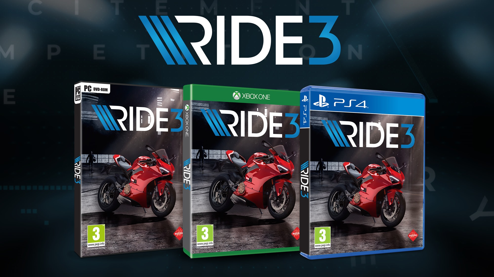 Panigale V4 featured in the RIDE 3 video game