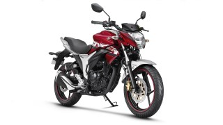 Suzuki Gixxer ABS colour option Candy Sonoma Red Metallic Sonic Silver