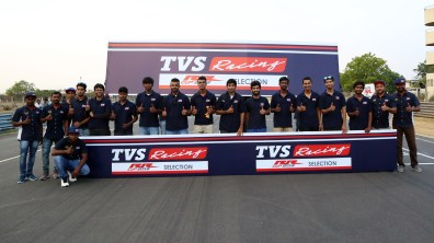 TVS Apache RR One Make Series riders
