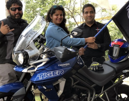 Triumph Motorcycles India flags off K2K road safety ride by Varad More