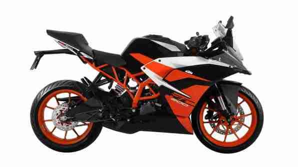 Black colour option KTM RC 200