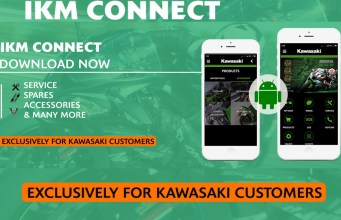 Kawasaki India now has app based service and accessories request