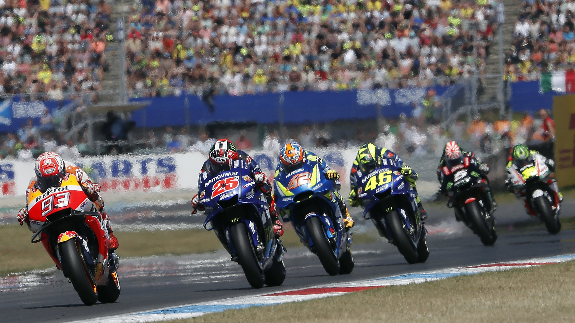 Marquez, Rins and Vinales on podium at Assen MotoGP