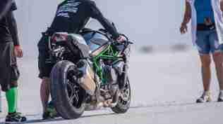 Kawasaki Ninja H2 with Team 38 Bonneville