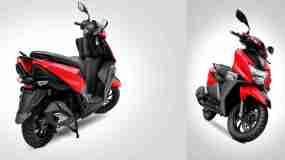 New TVS NTORQ 125 Metallic Red colour option