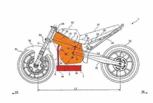 New Suzuki Up-side down horizontal engine design