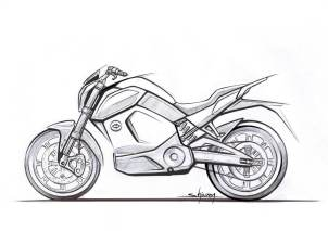 Electric bike from Revolt sketch