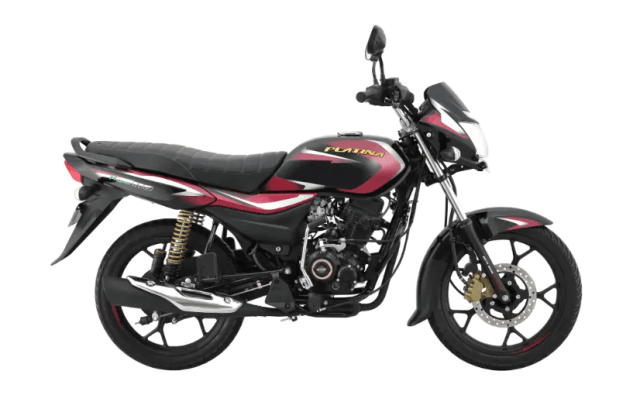 Bajaj Platina 110 H-Gear in new black colour