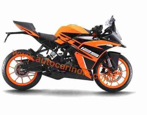 KTM RC 125 new orange-black colour scheme