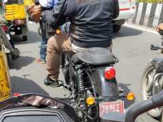 New Royal Enfield Thunderbird X spy shot