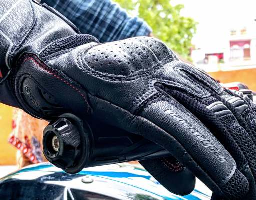 ViaTerra Holeshot gloves-side view