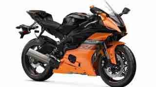 2020 Yamaha YZF-R6 colour option Orange Matte Raven Black