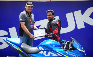 Receiving my participation certificate - Akhil Ganghadharan