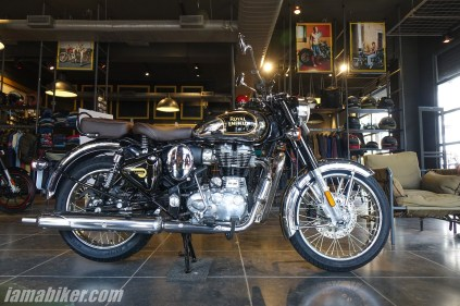 BS6 Royal Enfield Classic 350 Chrome with spoke wheels