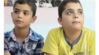 صورة احمد ومحمد ابناء رفعت هزيمة الذين تم خطفهما من قبل عصابات الإتجار بالبشر