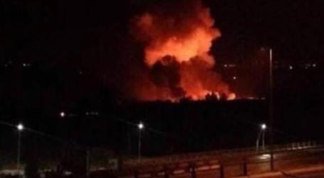 """الطيران الإسرائيلي يقصف  مطار """"التيفور"""" العسكري شرق حمص"""