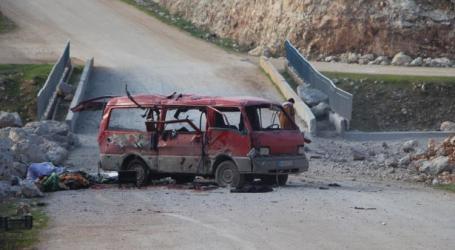 روسيا ترتكب مجزرة بحق عائلة نازحة غرب حلب