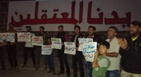 مظاهرة مسائية في طفس والفلتان الأمني يسيطر على درعا
