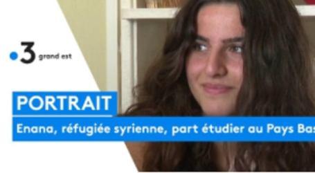 لاجئة سورية تمثل فرنسا في بطولة التزلج السريع  وتترشح لدخول كليات العالم المتحد