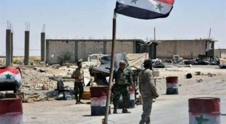 درعا تشهد إضرام النيران في حاجز لقوات السلطة السورية