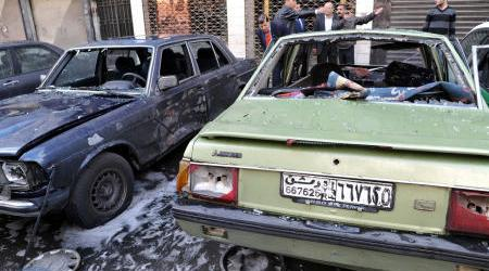 حل الخلافات بالقنابل يصل دمشق ويوقع 8 جرحى