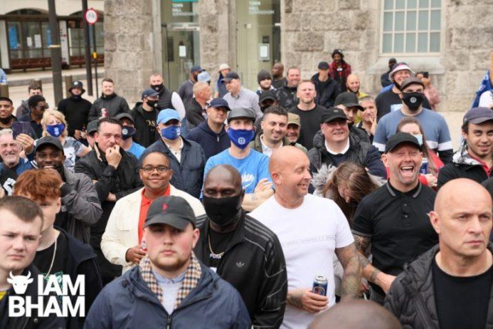 Hundreds of Birmingham City football fans march together against racism   I Am Birmingham