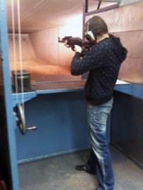 Dann Shooting an AK47