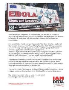 Ebola Flyer