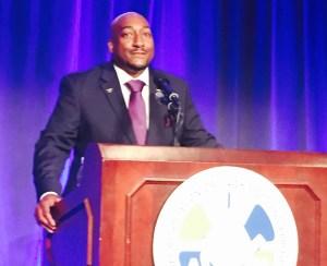 17-year Delta Flight Attendant addresses the 2015 IAM Transportation Conference.