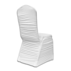 Ruched Spandex Chair Cover Kids Table Linens Banquet White