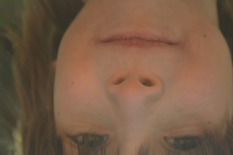 upside down kid face