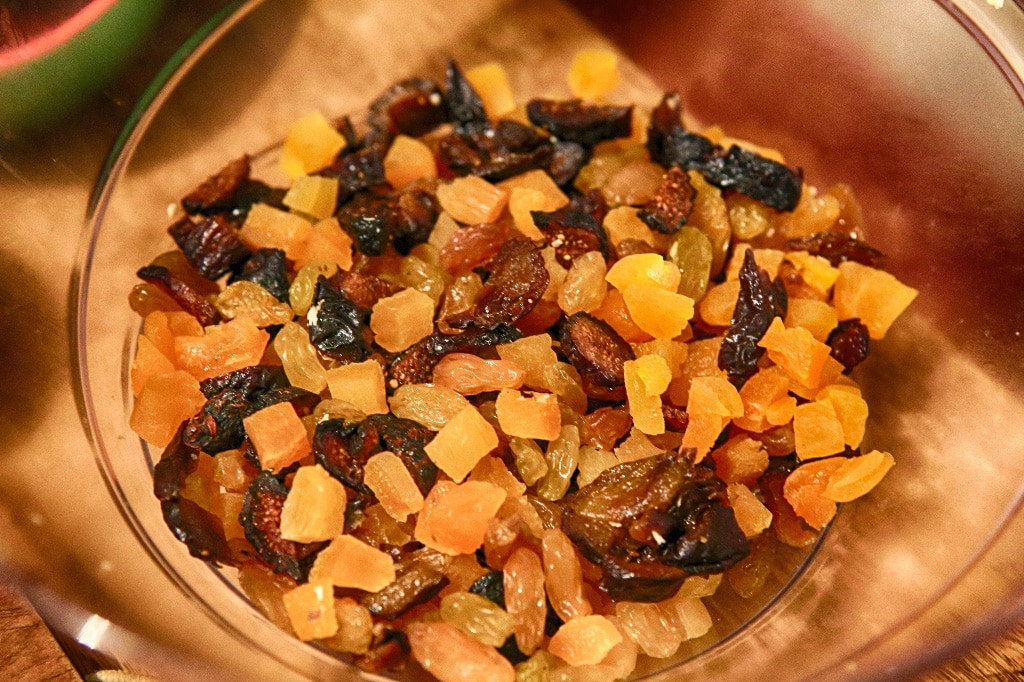 dried fruits bowl