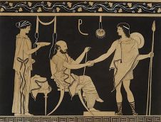 Hospitality scene, from the Collection of Greek Vases [DeAgostini/Getty Images]
