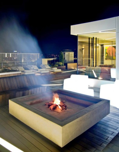 Fire Pit on deck