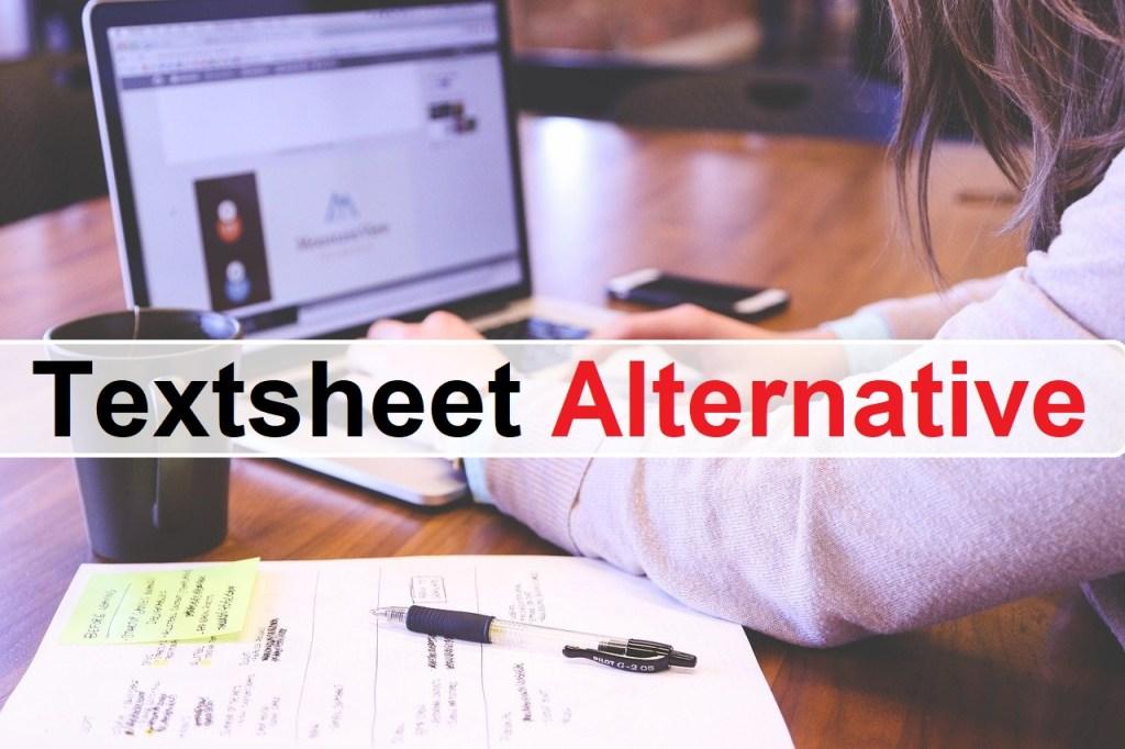 Textsheet Alternative