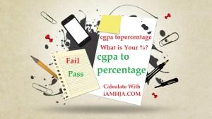 convert cgpa to percentage