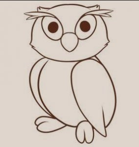 Owl - Step by Step Guide to Draw