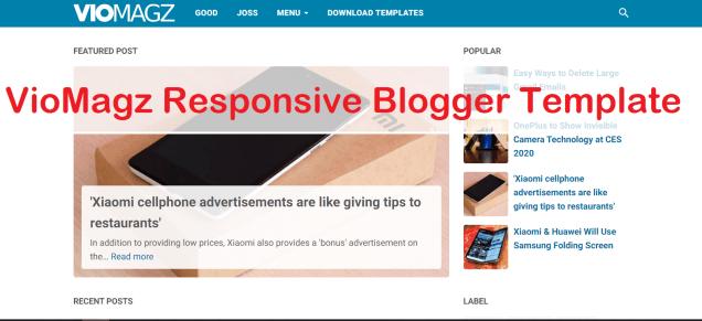 VioMagz Responsive Blogger Template