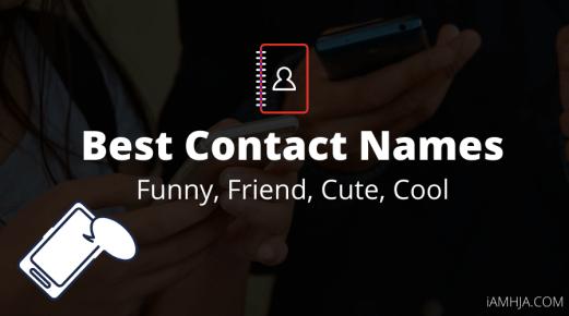 Contact Names list