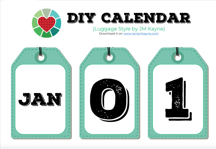 DIY Creative Calendar - iamjmkayne.com Luggage Style