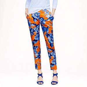 J. Crew Collection silk pant in painter's floral