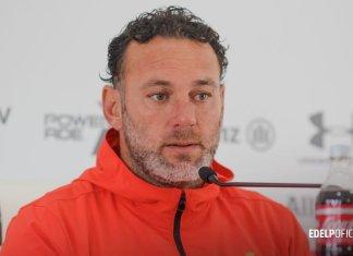 Gabriel Milito en conferencia de prensa