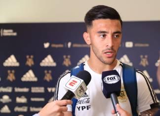 Nicolás González debutó en el seleccionado