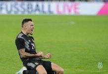 Lucas Ocampos, tras su estreno con gol en el seleccionado