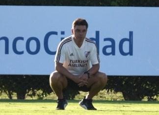 Marcelo Gallardo en entrenamiento